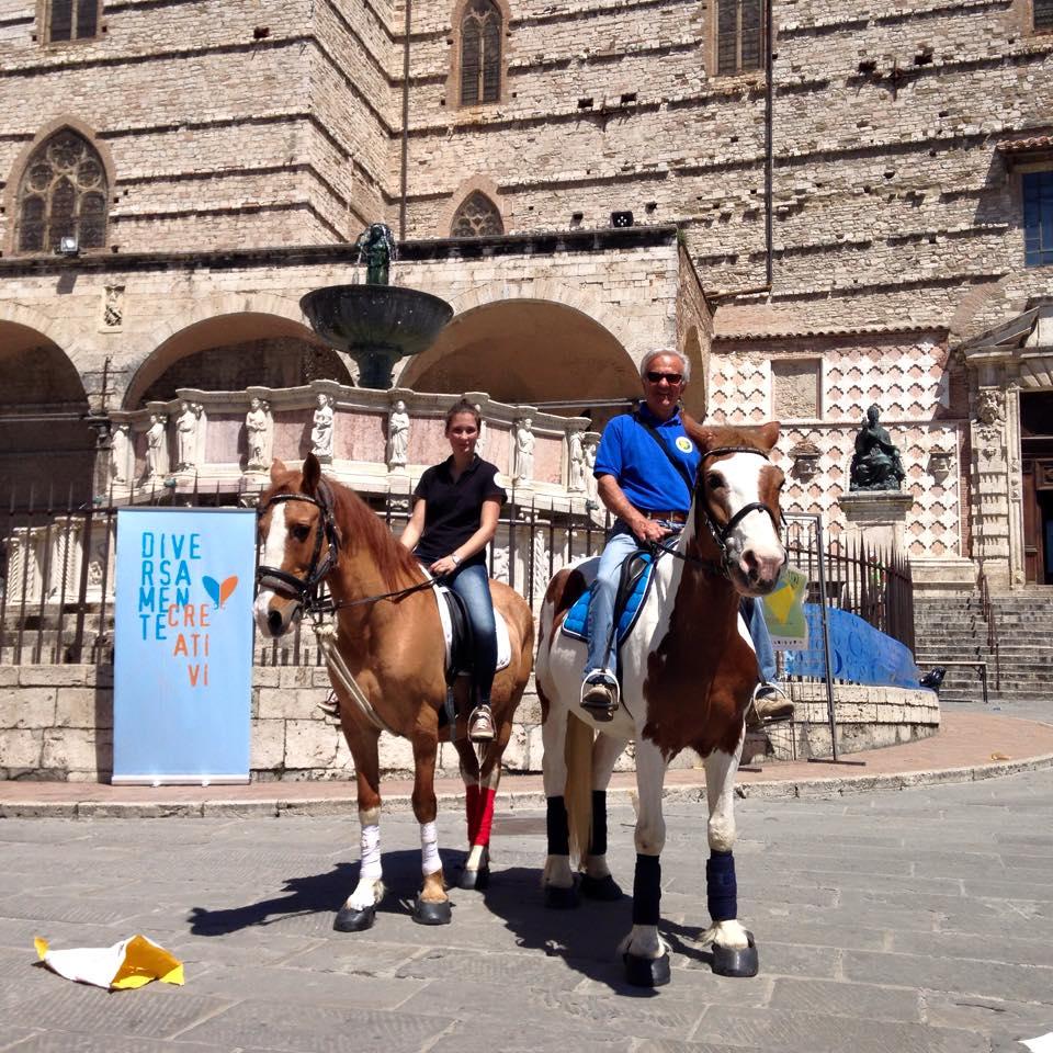 passeggiate a cavallo Perugia in centro storico